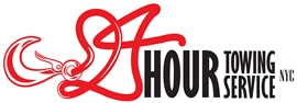 24 hours towing service logo
